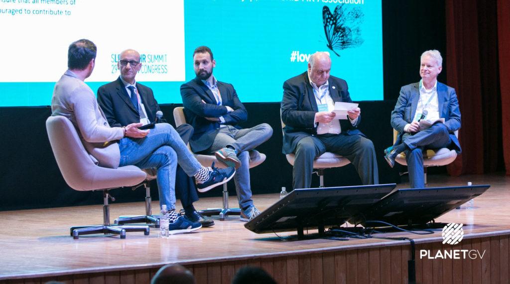 Luka Babič (Orgnostic), Bob Morton (CIPD), Luca Villa (Thyssenkrupp), Lucas van Wees (EAPM) and Gregor Rajšp (Slovenian HR Association)